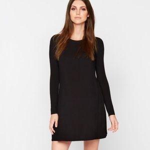 Madewell long-sleeve comfy black dress